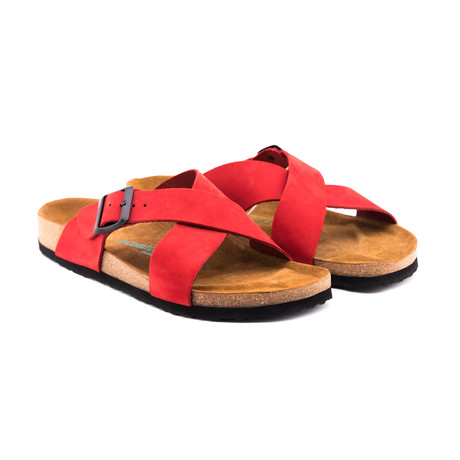 Cross Sandal // Red (Euro: 40)