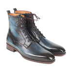 Leather Boots// Blue + Brown (Euro: 41)