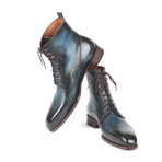 Leather Boots// Blue + Brown (Euro: 38)