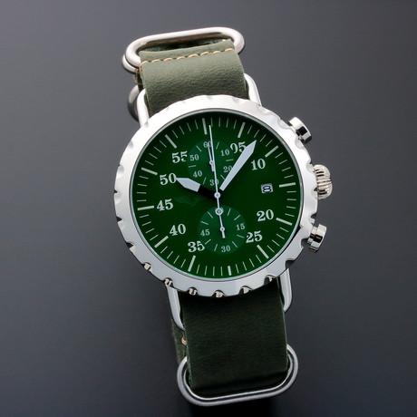 Peregrine Squadron Pilot Chronograph Quartz // PSA-CH-SB-2G // Unworn