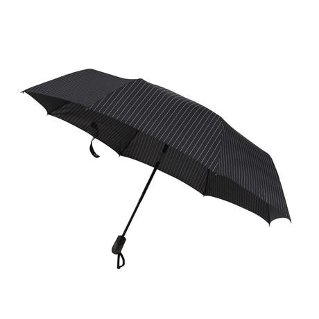 Happy Rain // Automatic Lightweight Umbrella // Black + White