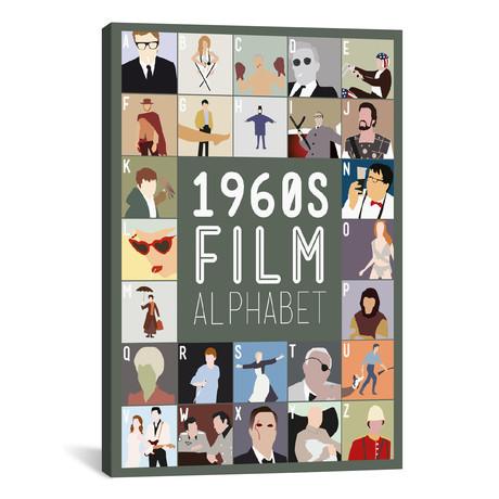 "1960s Film Alphabet (26""W x 18""H x 0.75""D)"