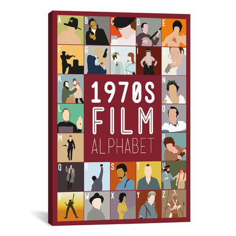 "1970s Film Alphabet (26""W x 18""H x 0.75""D)"