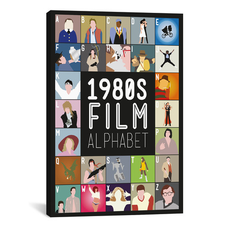 "1980s Film Alphabet (26""W x 18""H x 0.75""D)"