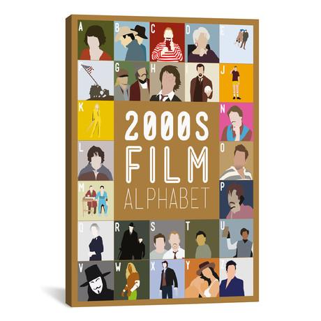 "2000s Film Alphabet (26""W x 18""H x 0.75""D)"