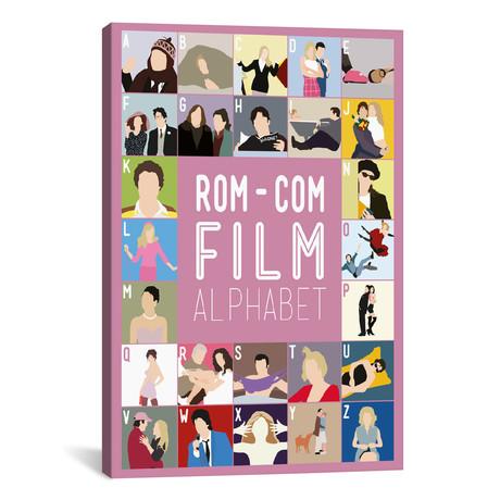"""Rom-Com Film Alphabet (26""""W x 18""""H x 0.75""""D)"""