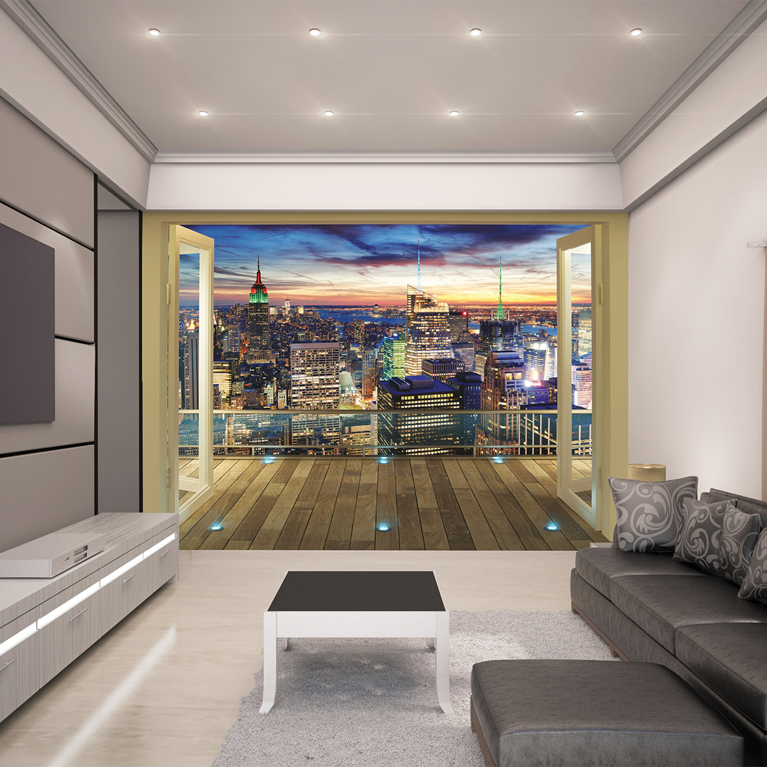 new york city skyline wall mural brewster home fashions touch of