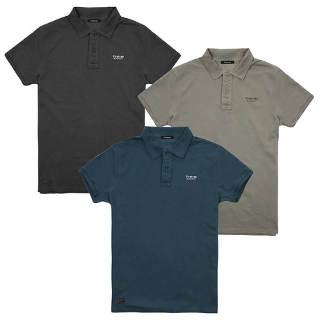 3 Pack - Polo Shirts // Multi (S)