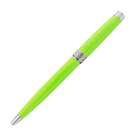 Piacere Chrome Micro Ballpoint Pen // Lime Green