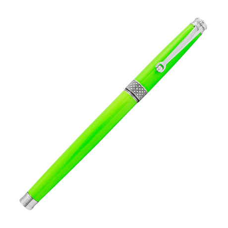 Piacere Chrome Rollerball Pen // Lime Green