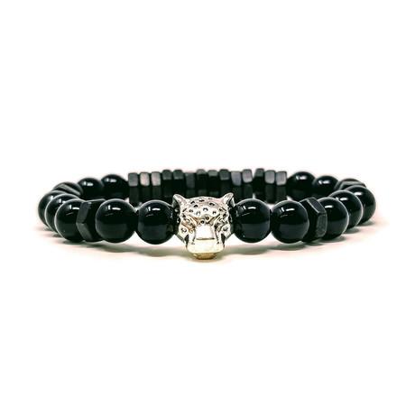 Black Panther Agate Black Bracelet (Size 7)