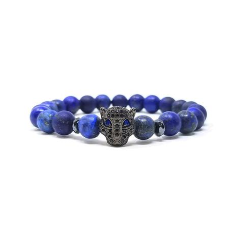 Black Panther Lapis Bracelet (Size 7)