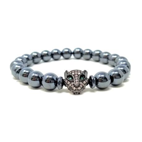 Black Panther Hematite Bracelet (Size 7)