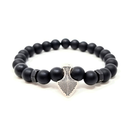 Black Panther Silver Spear Bracelet (Size 7)
