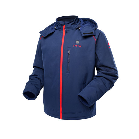 Sports Heated Jacket // Blue + Red