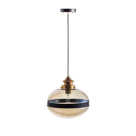 Vintage Lighting Cylinder Cognac Pendant Lamp