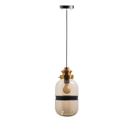 Vintage Lighting Round Cognac Pendant Lamp