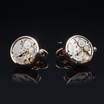 Quartz Watch Cufflinks // Goldtoned