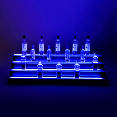 LED Tiered Liquor Shelf // 4 Step
