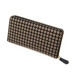 Zipped Long Wallet // Studs (Black + Black)