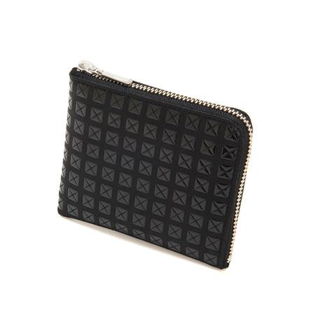 Zipped Coin Purse // Studs (Black + Black)