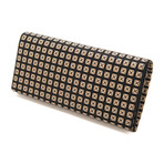 Long Wallet // Studs (Black + Black)
