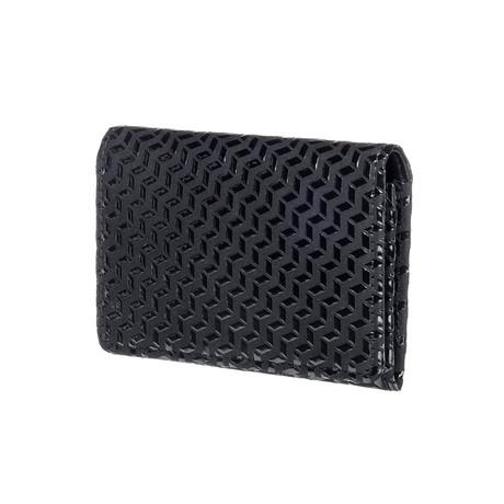 Business Card Case // Chevron (Black + Black)