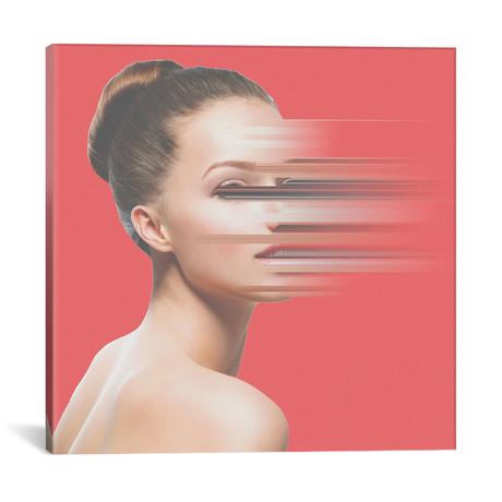 """Glitch Face (18""""W x 18""""H x 0.75""""D)"""