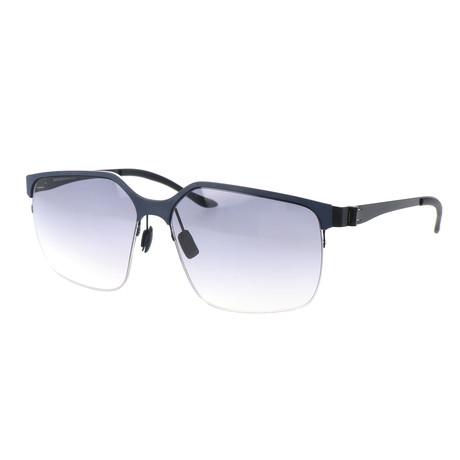 Men's M1037 Sunglasses // Dark Blue + Black