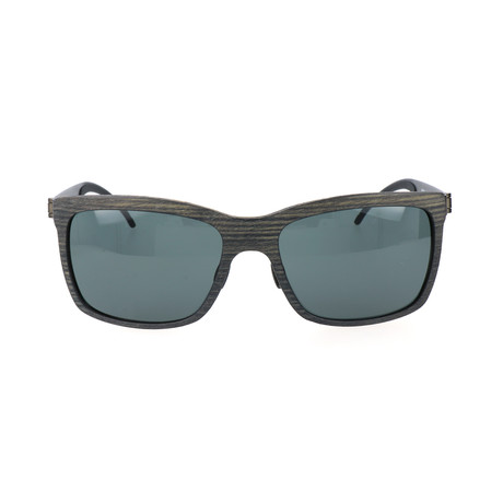 Tobie Sunglasses // Wood + Black