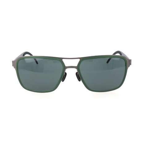 Seba Sunglasses // Green + Gunmetal