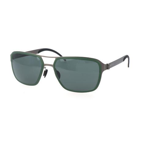 Men's M5031 Sunglasses // Dark Green + Gunmetal