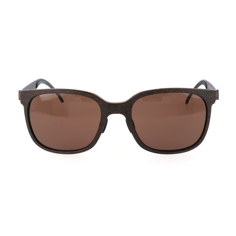 Men's Maxius Sunglasses // Brown Wood