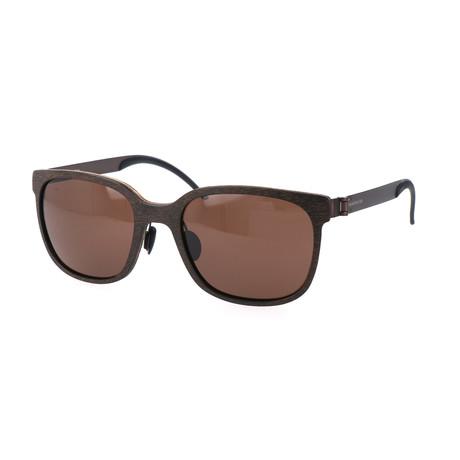 Men's Maxius Sunglasses // Brown Wood