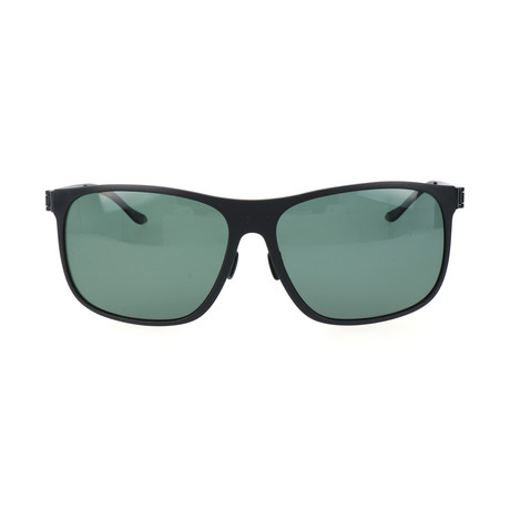 Men's M3016 Polarized Sunglasses // Black + Green