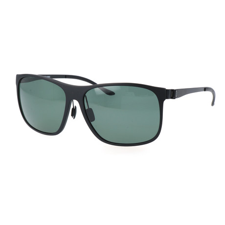 Men's M3016 Polarized Sunglasses // Black + Green