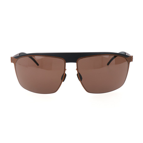 Men's Markus Sunglasses // Black + Rust