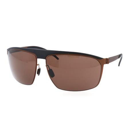 Men's Markus Sunglasses // Black + Rust