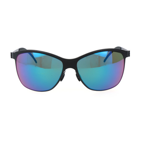 Men's M1047 Sunglasses // Black + Blue Mirror