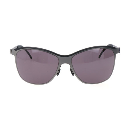 Men's Constance Sunglasses // Black + Silver
