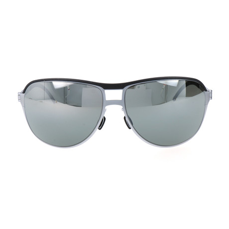 Valentin Sunglasses // Black + Silver