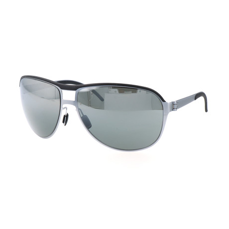 Men's M1048 Sunglasses // Light Blue + Black
