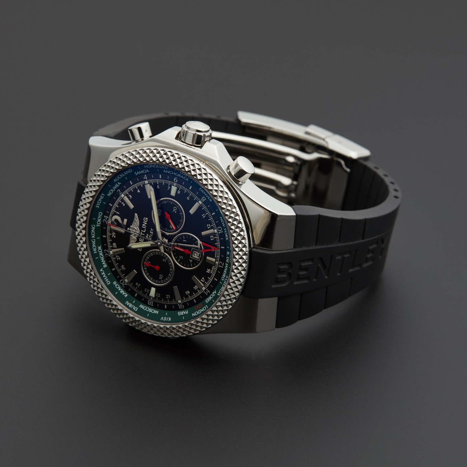 Pre Owned Bentley For Sale: Breitling Bentley GMT Automatic // A47362S4 // Pre-Owned