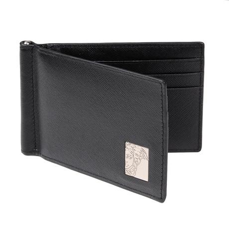 Versace Collection // Versace Bi Fold Wallet V2 // Black