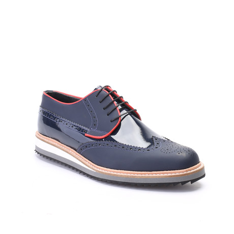 Wren Dress Shoes // Matte Dark Blue (Euro: 40)