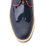 Wren Dress Shoes // Matte Dark Blue (Euro: 45)
