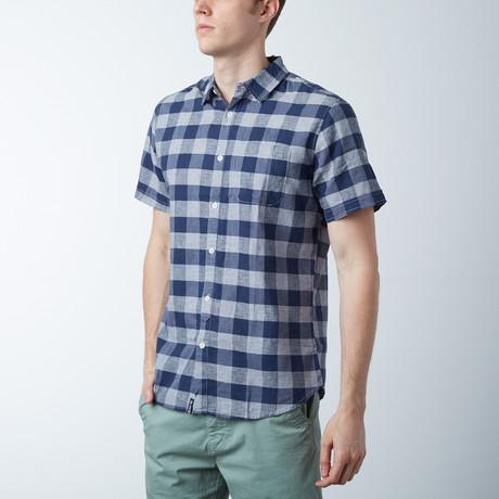 Diego Linen Shirt // Navy