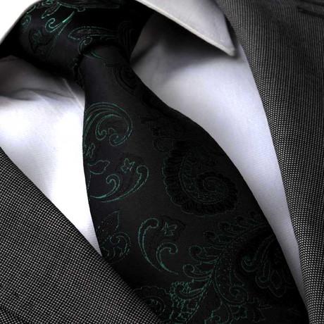 Albani Silk Tie // Black Paisley