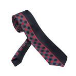 Arborius Silk Tie // Red Plaid + Black