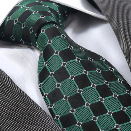 Ursinus Silk Tie // Green + Black